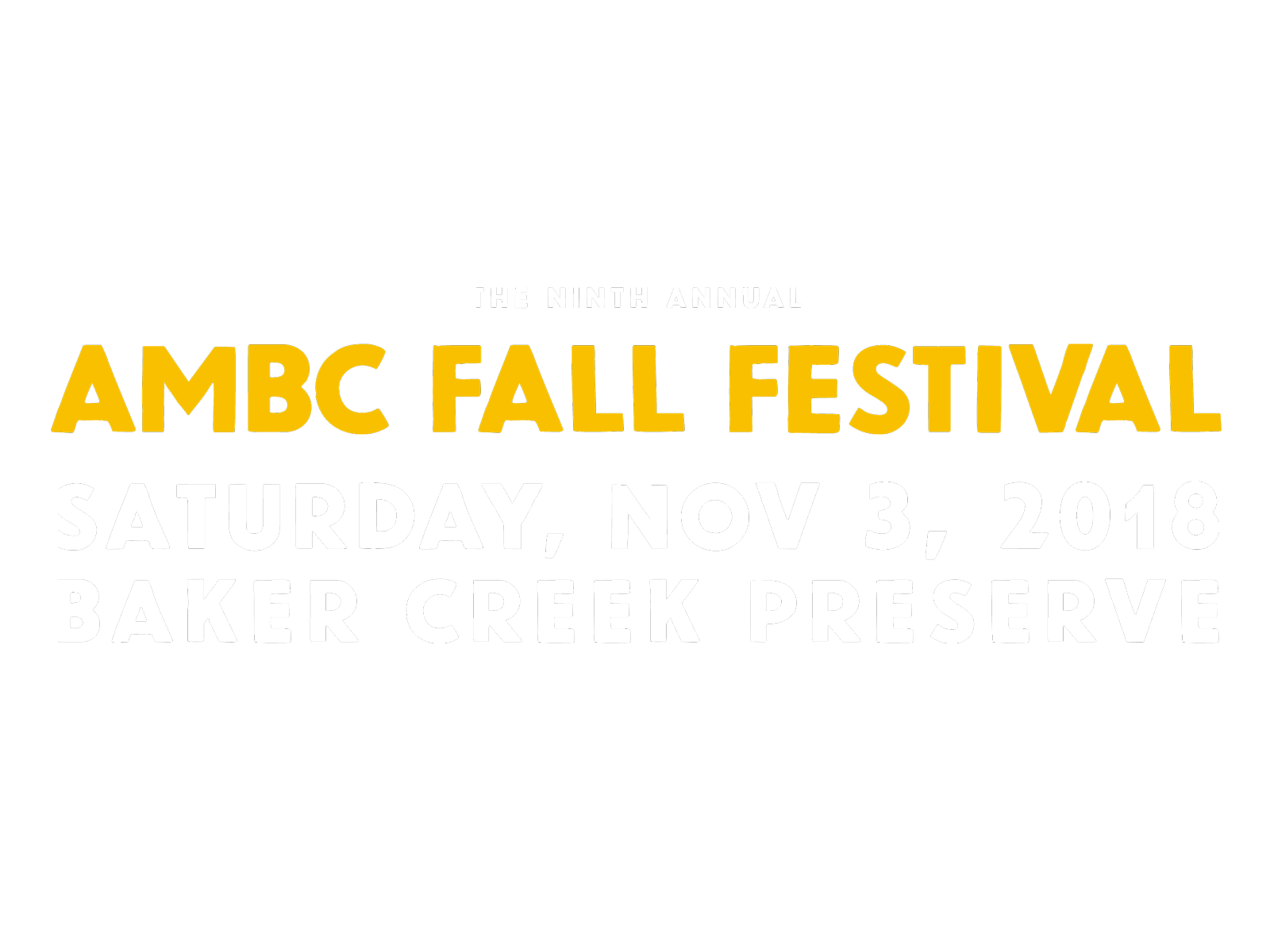 AMBC Fall Festival - Nov 3 2018